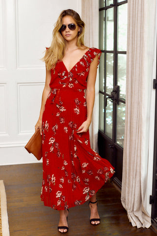 PreOrder Brynlee Sleeveless Floral Maxi Dress
