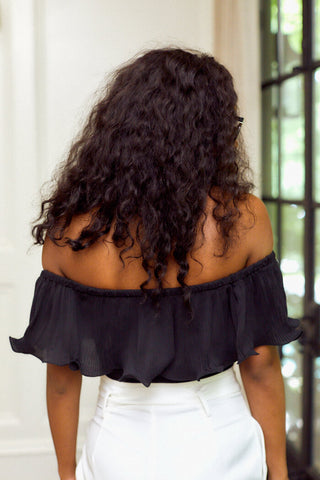 PreOrder Hazel Pleated Off Shoulder Bodysuit