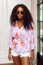Load image into Gallery viewer, SALE - Madison Pleated Sleeve Floral Blouse