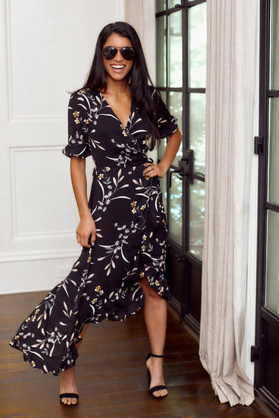 fab'rik - Parker Short Sleeve Floral Print Maxi Dress image thumbnail
