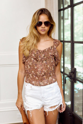 PreOrder Padma Floral Sleeveless Blouse