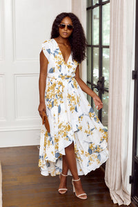 PreOrder Leighton Floral Maxi Wrap Dress