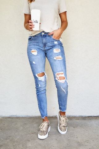 Kylie High Rise Girlfriend Jeans