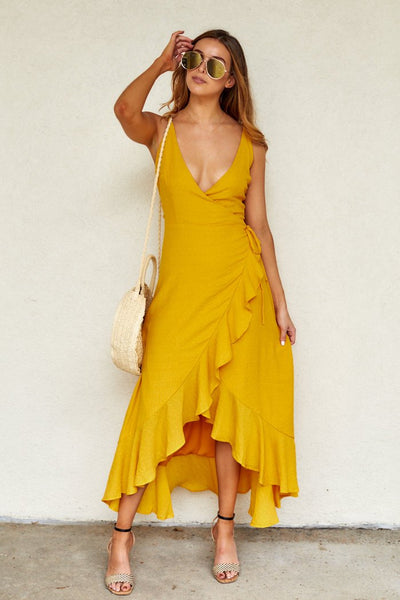fab'rik - Lowell Wrap Maxi Dress image thumbnail