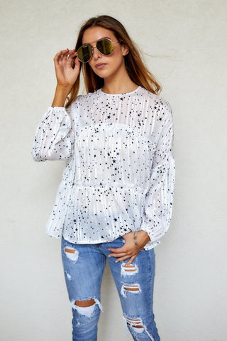 Leighton Star Print Top