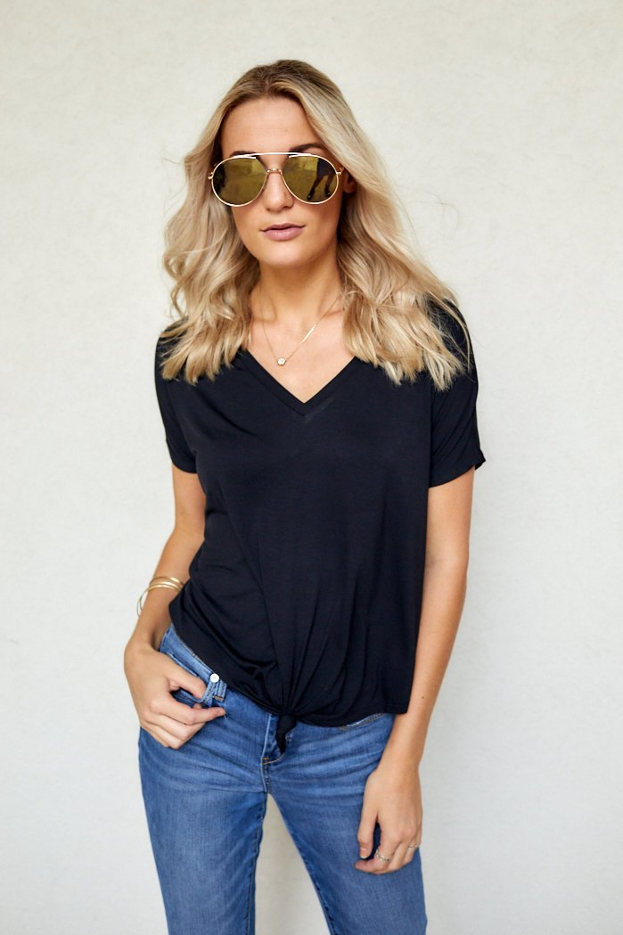 fab'rik - Vivi Knotted Front Tee ProductImage-8183385718842