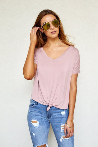Vivi Knotted Front Tee