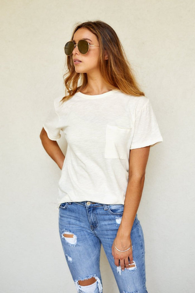 Mia Short Sleeve Pocket Tee