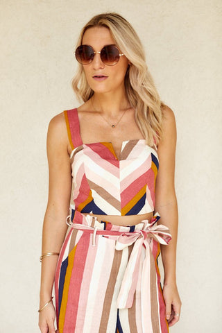 Elma Striped Crop Top