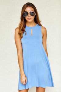 Ray Sleeveless Swing Dress