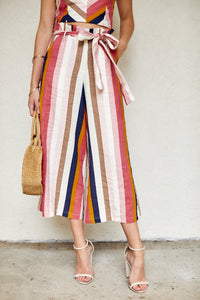 Elma Striped Paper Bag Pants