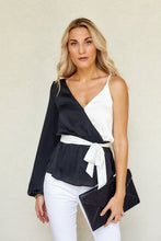 Load image into Gallery viewer, Gia Color Block Asymmetrical Blouse