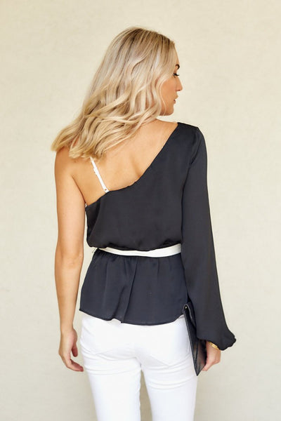 fab'rik - Gia Color Block Asymmetrical Blouse image thumbnail