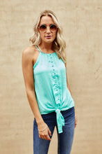 Load image into Gallery viewer, Axley High Neck Button Down Cami