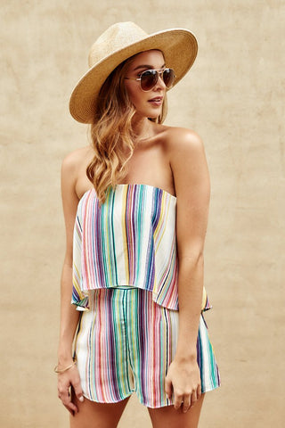 Salma Striped Romper