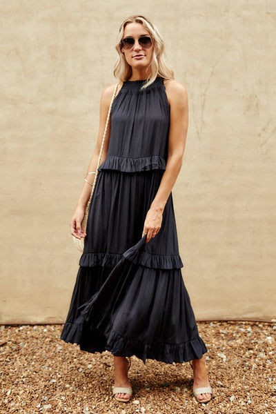 fab'rik - Callyn Ruffle Tiered Maxi Dress image thumbnail