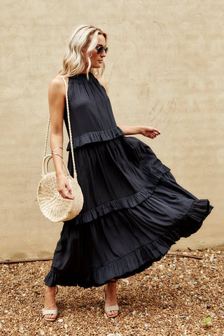 PreOrder Callyn Ruffle Tiered Maxi Dress