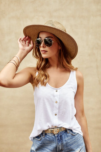fab'rik - Grace Button Down Tank image thumbnail