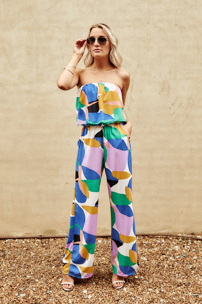 fab'rik - Amber Abstract Color Block Jumpsuit image thumbnail