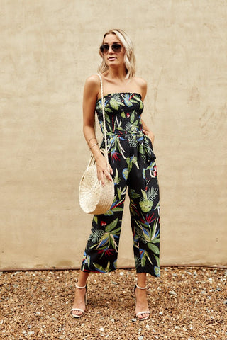 Arden Tropical Print Jumpsuit