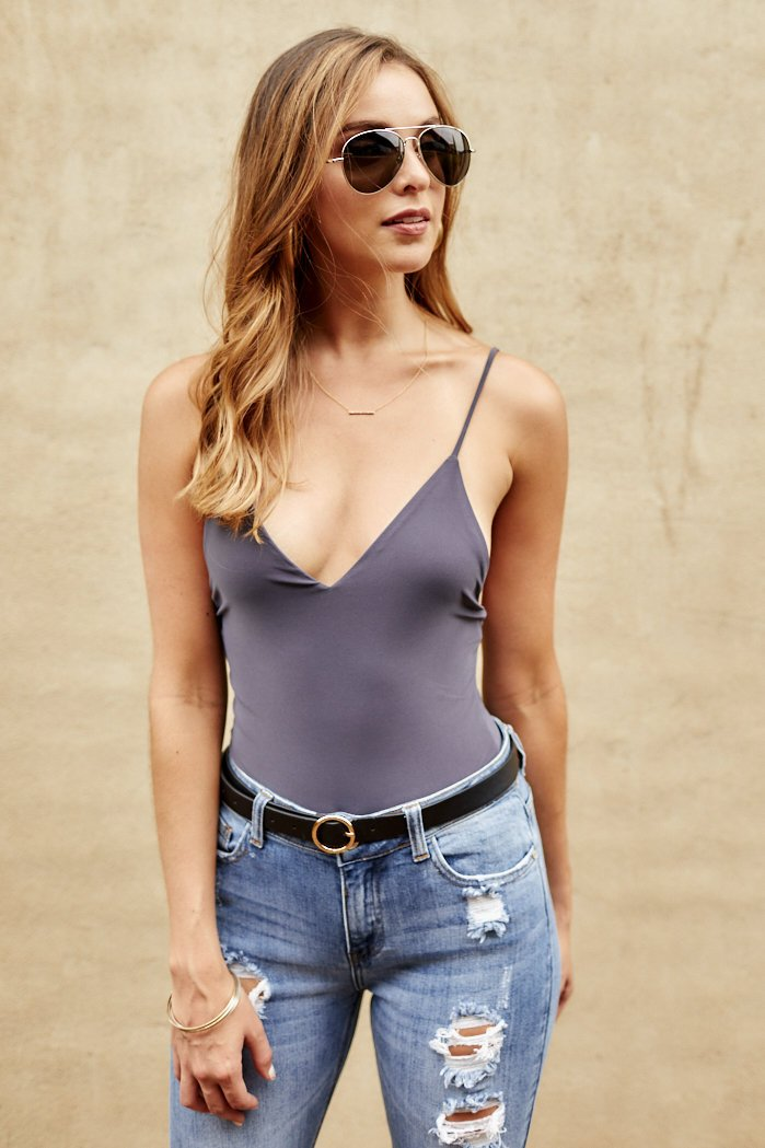 fab'rik - Clyde Deep V-Neck Bodysuit ProductImage-8213126185018