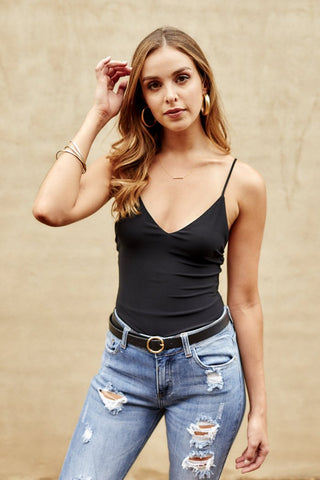 Clyde Deep V-Neck Bodysuit