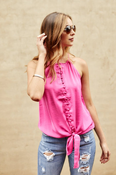 fab'rik - Axley High Neck Button Down Cami image thumbnail