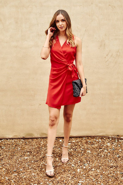 fab'rik - Lena Wrap Mini Dress image thumbnail