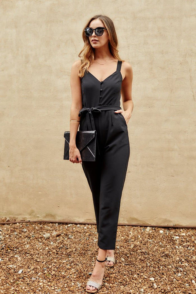 Carlie Button Front Jumpsuit