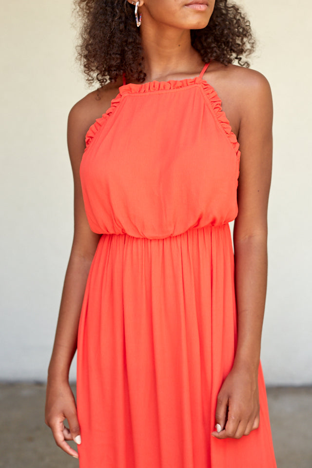 WYNN STRAPPY BACK MAXI DRESS