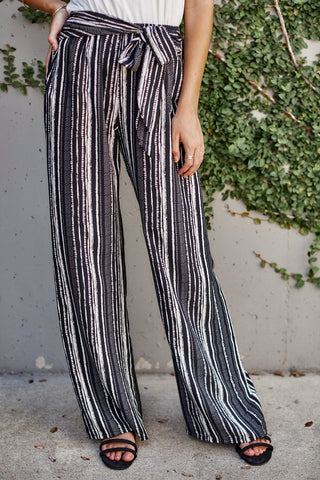Tara Striped Wide Leg Pants