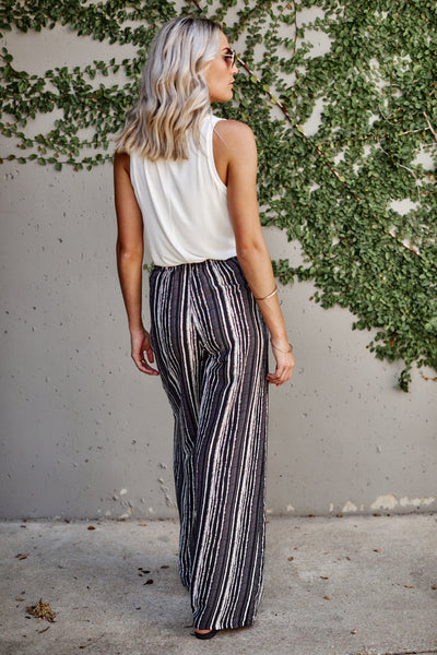 fab'rik - Tara Striped Wide Leg Pants image thumbnail