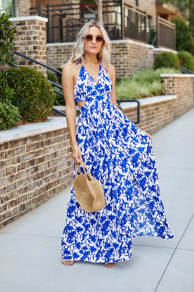 Maggy Floral Print Maxi Dress