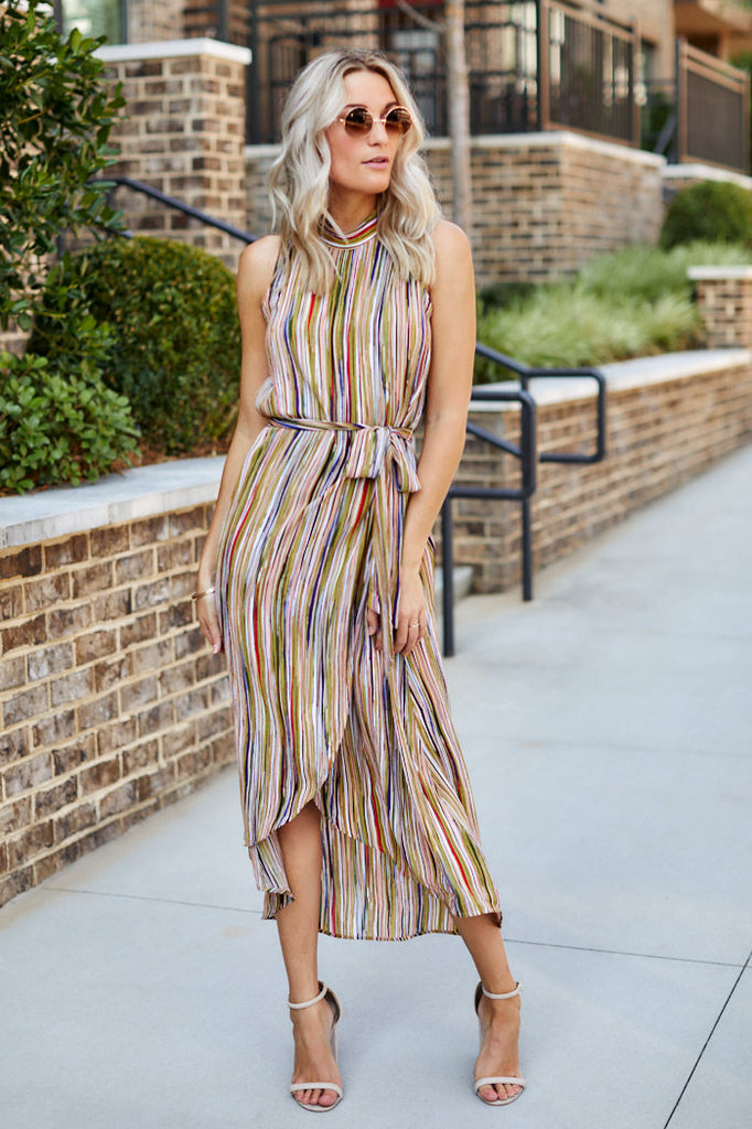 Aria Printed Maxi Dress
