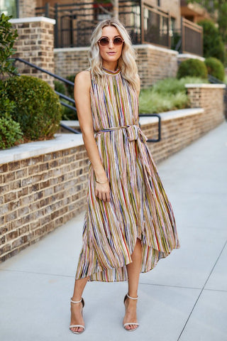 Aria Printed Midi Dress