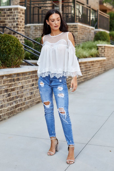 fab'rik - Bianca Cold Shoulder Blouse image thumbnail