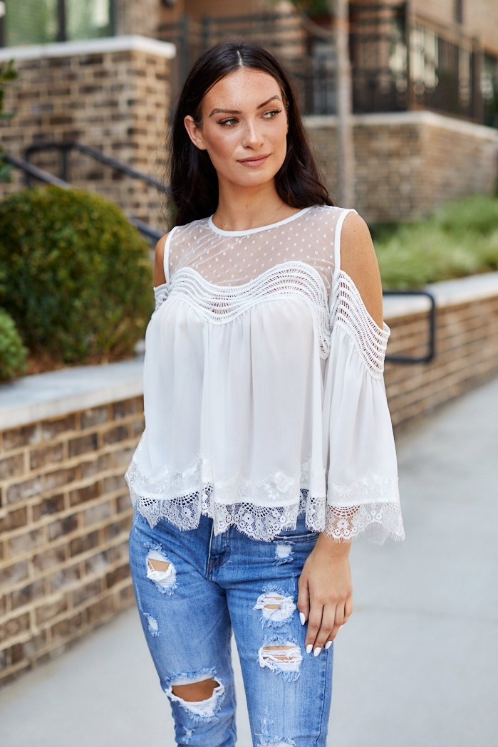 fab'rik - Bianca Cold Shoulder Blouse ProductImage-8230266699834