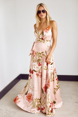 PreOrder Britton Floral Side Slit Maxi Dress
