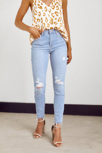 Preorder Bailey High Rise Distressed Skinny