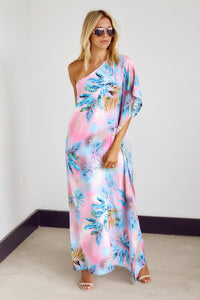 PreOrder Grayson One Shoulder Palm Print Maxi Dress