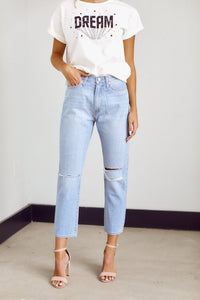 Catalina Knee Slit Mom Jean
