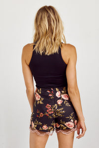 SALE - Jemma Embroidered Detail Floral Shorts