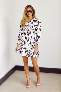 Claire Long Sleeve Button Down Dress