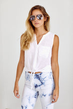 Load image into Gallery viewer, SALE - Sidney Tie Front Sleeveless Blouse