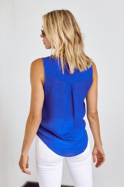fab'rik - Sidney Tie Front Sleeveless Blouse image thumbnail