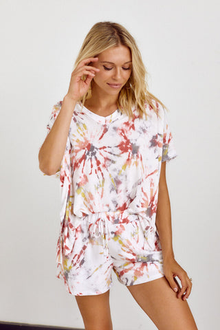 PreOrder Mia Short Sleeve Tie Dye Top