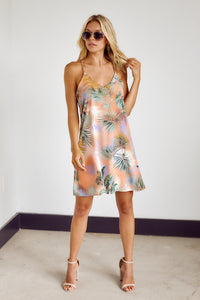 Preorder Clementine Palm Print Dress