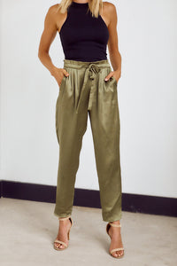 SALE - Roxie Silky Tie Waist Tailored Pant