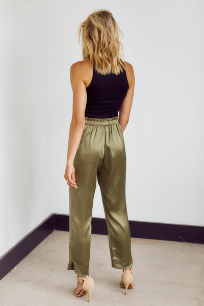 fab'rik - Roxie Silky Tie Waist Tailored Pant image thumbnail
