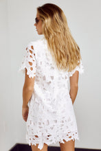 Load image into Gallery viewer, SALE - Rowley Floral Crochet Detail Mini Dress